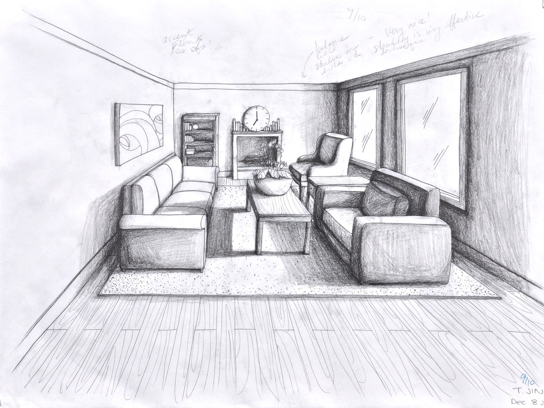 one point perspective living room drawing images pictures becuo